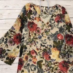 Sage brand flowy floral dress size Medium